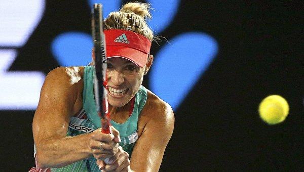 Немецкая теннисистка Ангелика Кербер в финале Открытого чемпионата Австралии, 30 января 2016