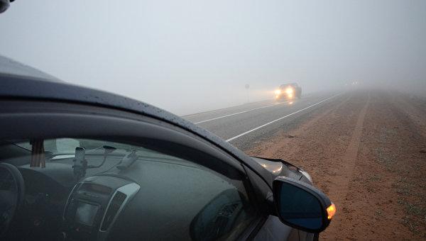 Туман на дороге. Архивное фото