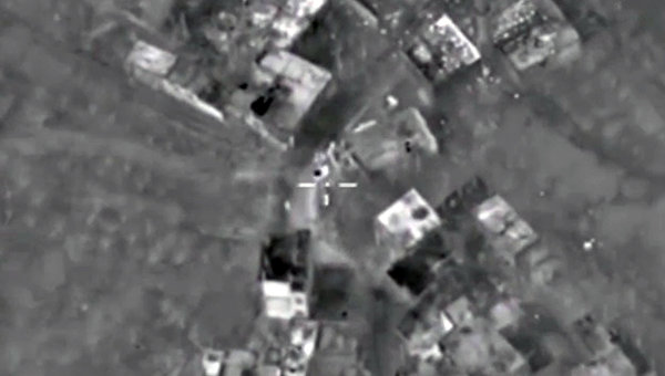 Уничтожение российской авиацией командного пункта боевиков с развитой инфраструктурой в провинции Латакия. Архивное фото