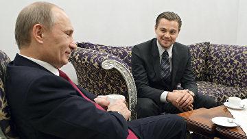 Владимир Путин и американский киноактер Леонардо Ди Каприо. Архивное фото