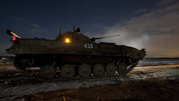 Учения 4-й гвардейской Кантемировской танковой дивизии. Архивное фото