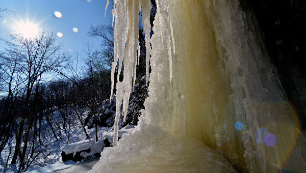 Кравцовский водопад Сказка в Хасанском районе Приморского края