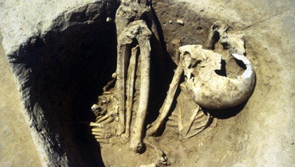 Останки древнего человека из Франции