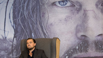Американский актер и продюсер Леонардо Ди Каприо во время пресс-конференции. Январь 2016. Архивное фото