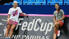 Российские теннисистки Светлана Кузнецова и Дарья Касаткина. Архивное фото