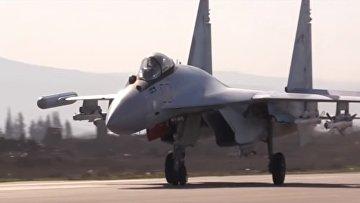 RT опубликовал видео дежурства истребителей Су-35С в Сирии