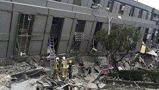 Обрушившееся здание на Тайване, 6 февраля 2016