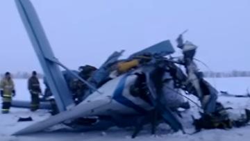 Место крушения Ан-2 в Оренбургской области. ВИДЕО