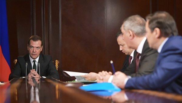 Председатель правительства РФ Дмитрий Медведев в подмосковной резиденции Горки проводит совещание с вице-премьерами РФ. Архивное фото