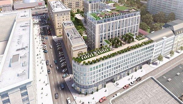 Фасадные работы  ведутся в комплексе Сады Пекина на Маяковской