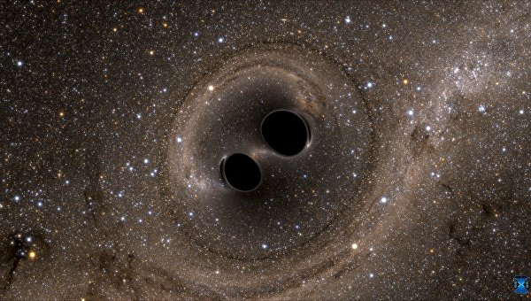 Столкновение двух черных дыр