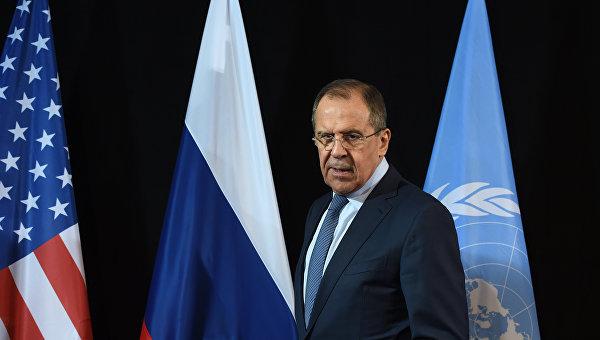 Министр иностранных дел России Сергей Лавров на пресс-конференции в Мюнхене