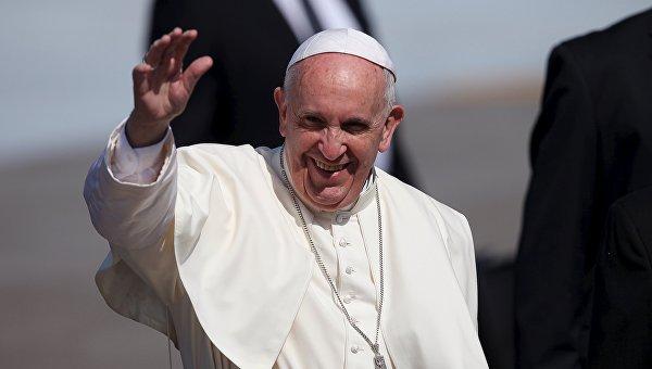 Папа римский Франциск в аэропорту Гаваны, 12 февраля 2016