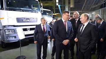Рабочая поездка президента РФ В. Путина в Татарстан