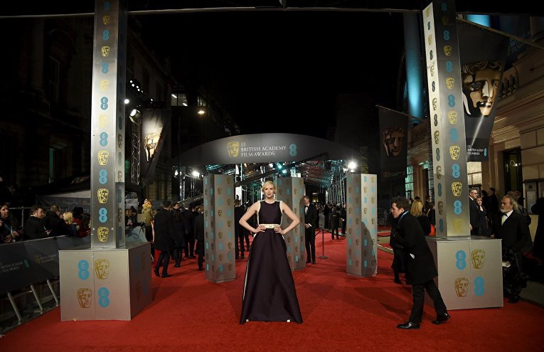 Актриса Гвендолин Кристи на церемонии вручения премий Британской академии кино и телевизионных искусств