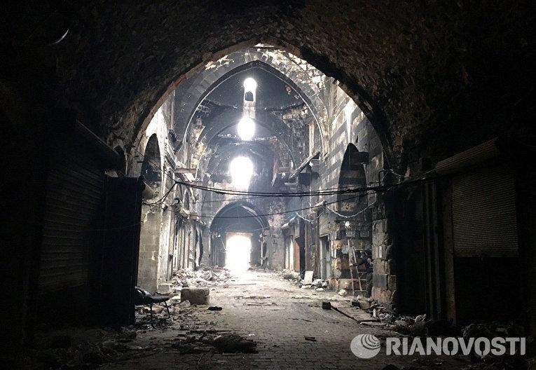 Крытый рынок в Старом городе в Алеппо