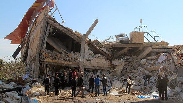 Больница Врачей без границ в провинции Идлиб, разрушенная в результате авиаудара. 15 февраля 2016 год