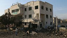 Ситуация в сирийском городе Аазаз. Архивное фото