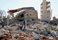 """Больница """"Врачей без границ"""" в провинции Идлиб, разрушенная в результате авиаудара. 15 февраля 2016"""