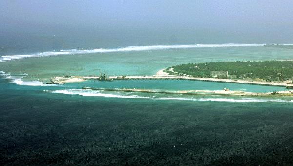 Вид на остров Вуди в Южно-Китайском море, Архивное фото