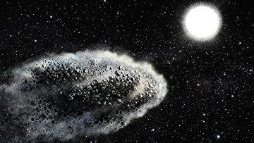 Так художник представил себе астероид, раздробленный Солнцем на пылинки
