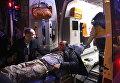 Пострадавший при взрыве у общежития для военных в центре Анкары, Турция