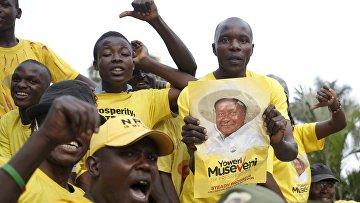 Сторонники президента Уганды Йовери Мусевени