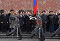 Церемония возложения цветов Могиле неизвестного солдата в День защитника Отечества