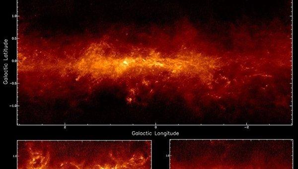 Карты пыли, полученные радиотелескопом APEX