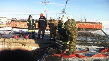 Ликвидация последствий обрушения здания на Чукотке