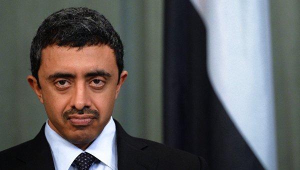 Министр иностранных дел Объединённых Арабских Эмиратов Абдалла бен Заид Аль Нахайян. Архивное фото