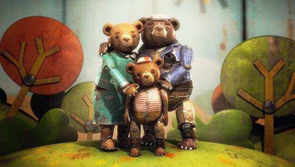 Кадр из чилийского мультфильма Медвежья история, получившего Оскар как лучший короткометражный мультфильм