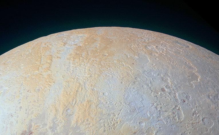 Ледяные каньоны Плутона снятые автоматической межпланетной станцией New Horizon