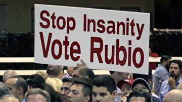 Сторонники кандидата в президенты США от республиканской партии Марко Рубио