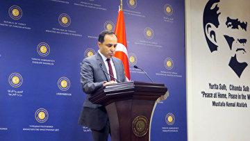 Пресс-секретарь МИД Турции Танжу Бильгич. Архивное не лишнее.