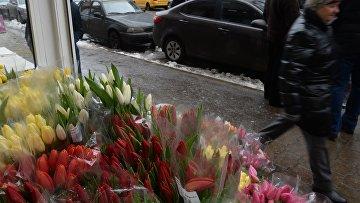 Продажа цветов к 8 марта. Архивное фото