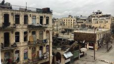 В историческом центре (Старом городе) в Алеппо. Сирия. Архивное фото