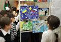Выставка рисунков детей из горячих точек, ставшими очевидцами военных конфликтов. (г.Луганск)