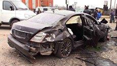 Взрыв автомобиля в Назрани. 11 марта 2016. Архивное фото