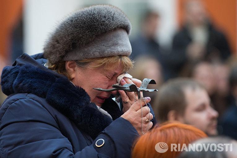 Акция памяти жертв авиакатастрофы над Синаем в Петропавловской крепости