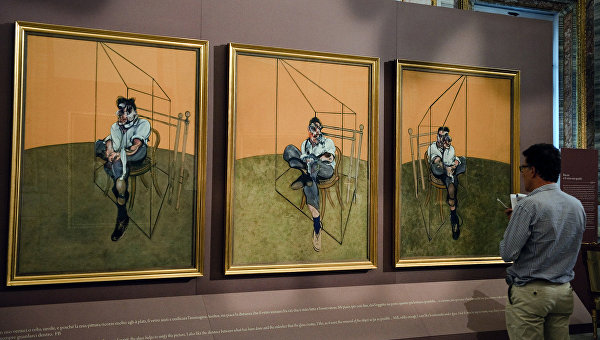 Картина Фрэнсиса Бэкона Три этюда Люсьена Фрейда. Галерея Боргезе, Архивное фото