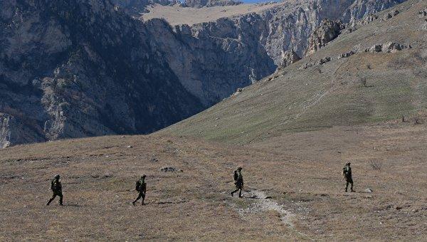 Военнослужащие в Республике Северная Осетия-Алания. Архивное фото