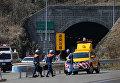 Крупное ДТП в тоннеле на юго-западе Японии. 17 марта 2016