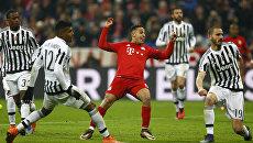 Матч 1/8 финала Лиги чемпионов между мюнхенской Баварией и итальянским Ювентусом