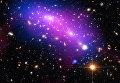 Сталкивающиеся галактики MACS J0416 в созвездии Эридана