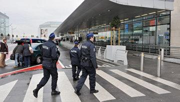 Полиция Бельгиии аэропорту Брюсселя