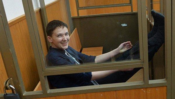 Гражданка Украины Надежда Савченко в зале заседаний Донецкого городского суда Ростовской области