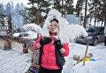 Шаманка Бибигуль плетет самый большой в мире амулет Ловец снов