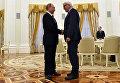 Президент России Владимир Путин и министр иностранных дел Германии Франк-Вальтер Штайнмайер. 23 марта 2016