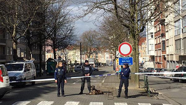 Сотрудники полиции Бельгии во время спецоперации в Скарбеке. Архивное фото